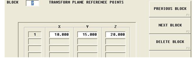 Transform Plane Reference Point